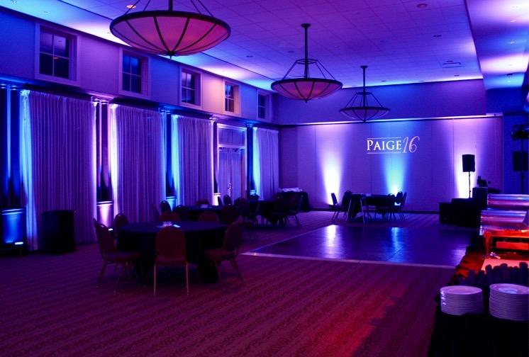 indoor event lighting