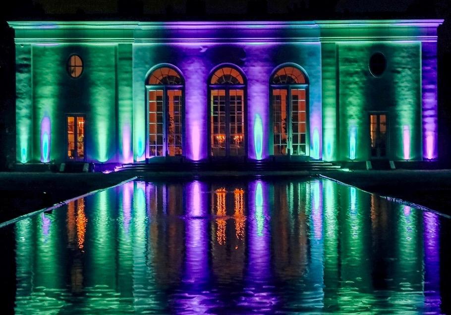 festive atmosphere lighting for events
